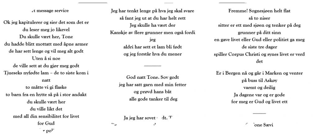 Poem excerpt